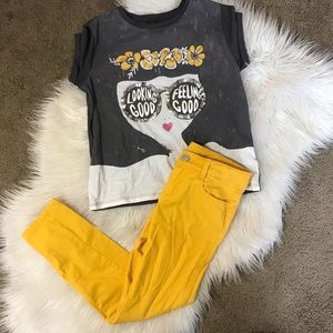 Gymboree | Yellow & Gray Outfit